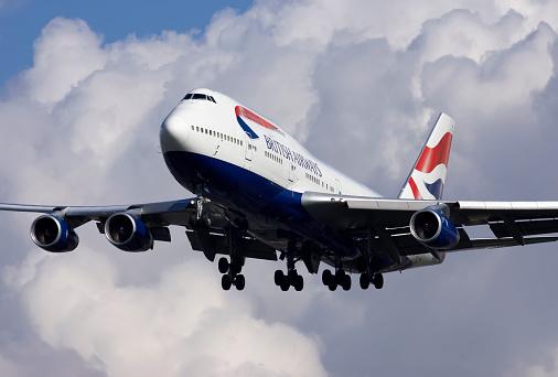 British Airways Boeing 747 - Fotografie stock e altre immagini di Aereo di linea