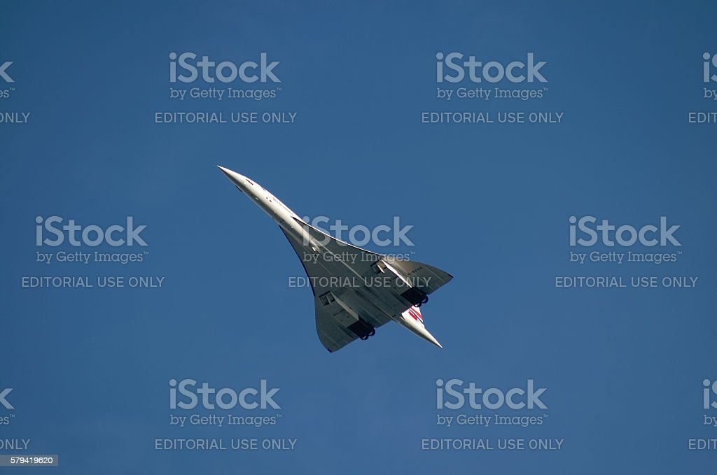 British Airways Concorde supersonic airplane stock photo