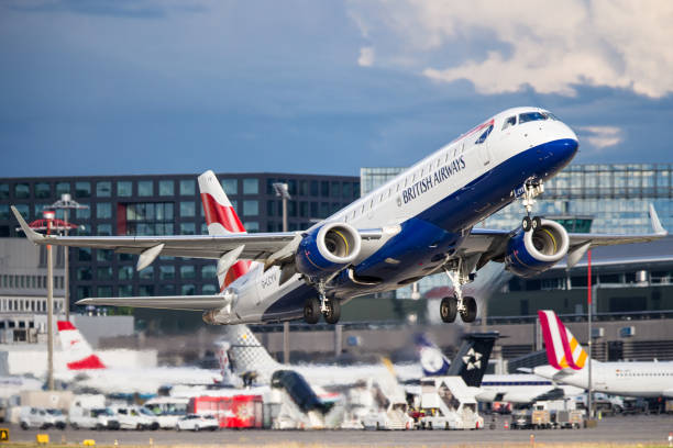 British Airways Embraer ERJ-190 stock photo