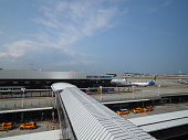 New York, USA - June 2, 2019: Image of terminal 7 of JFK, this section is served by British Airways.