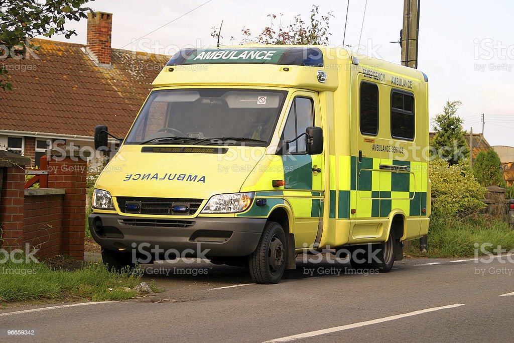 British Ambulance stock photo