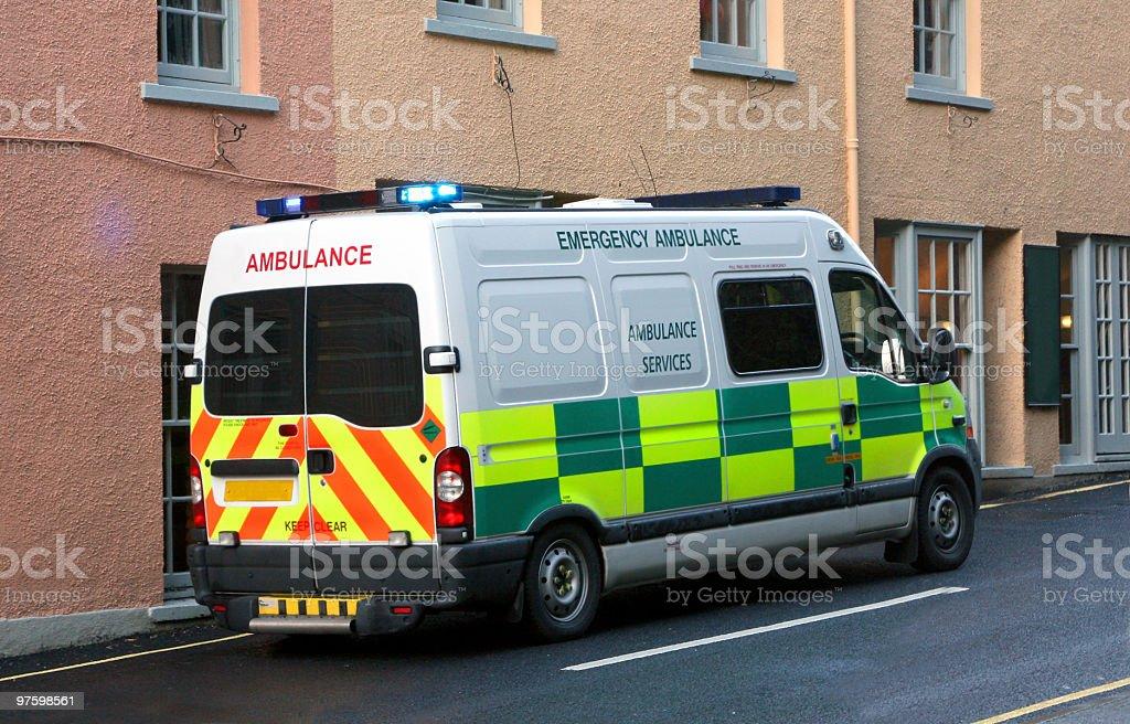 Ambulance Britannique photo libre de droits