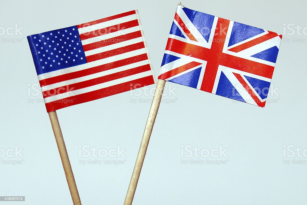 British and American flags royalty-free stock photo