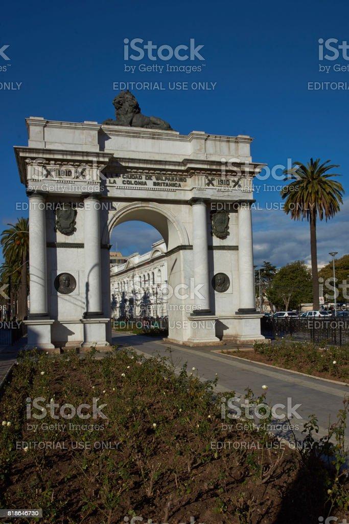 British Arch in Valparaiso stock photo
