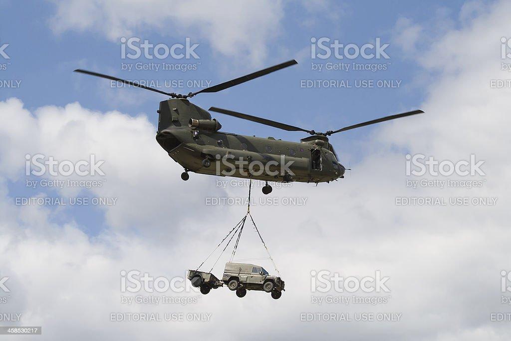 British Army Boeing CH-47 Chinook stock photo