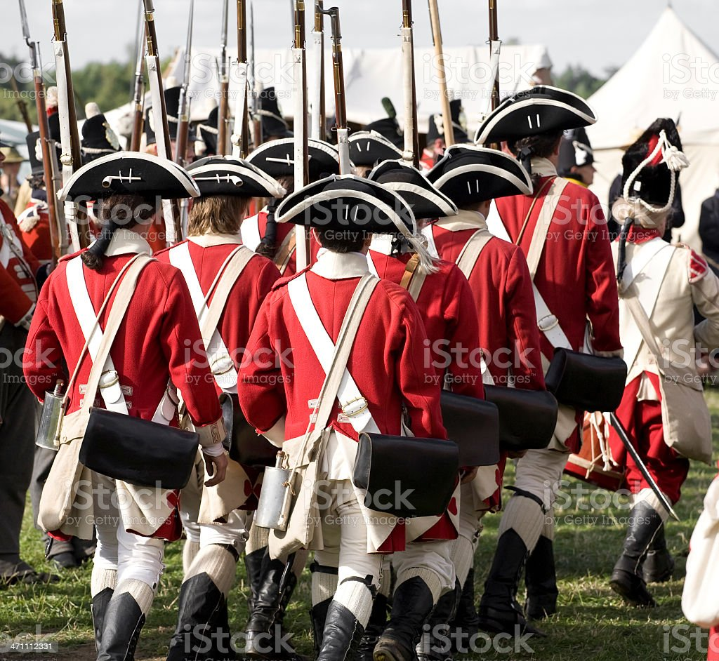 British Army Redcoats royalty-free stock photo