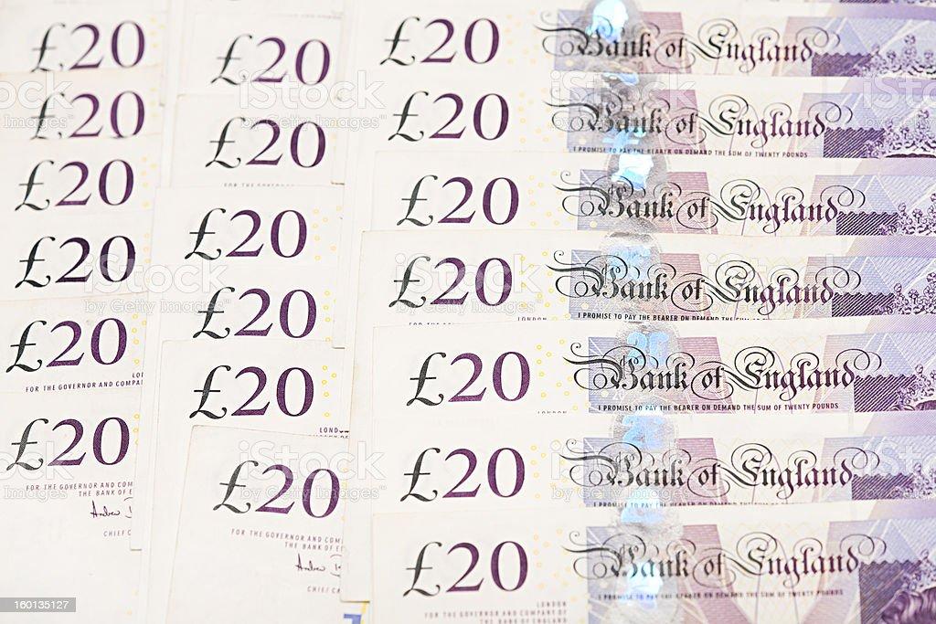 British bank notes stock photo