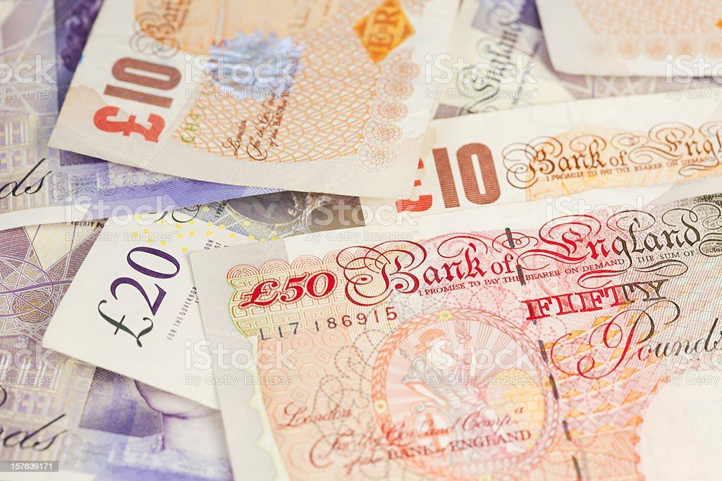 British Banknotes stock photo