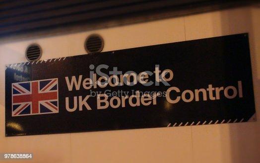 British Border Control Sign View