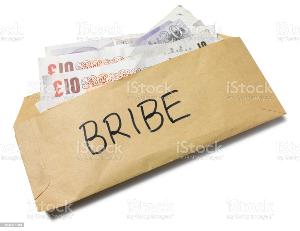 British Bribe in a Envelope royalty-free stock photo