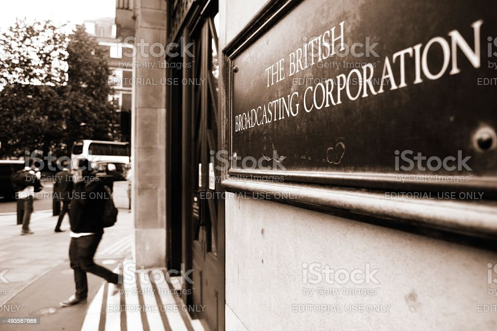 British Broadcasting Corporation stock photo