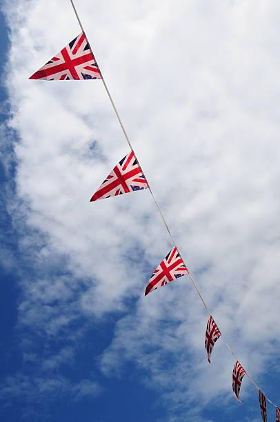 britische bunting. - imperialismus stock-fotos und bilder