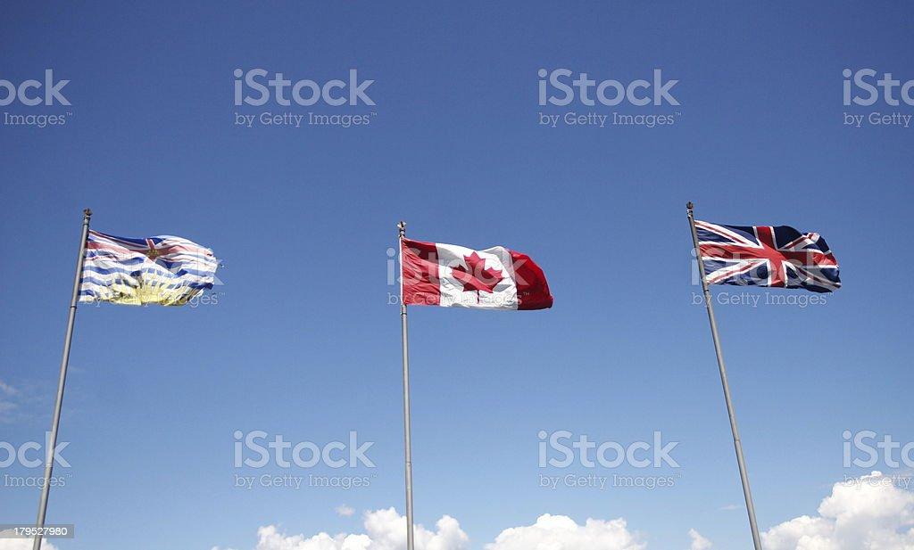 British Canada, USA royalty-free stock photo