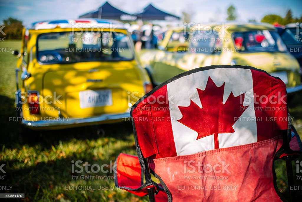 British Car Day in Canada stock photo