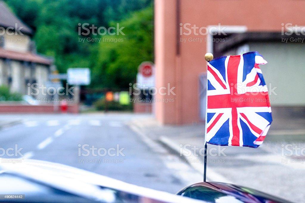 British Car Flag stock photo