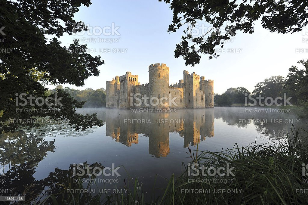 British Castle and Moat stock photo
