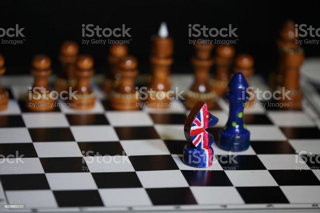 British chess knight leader stock photo