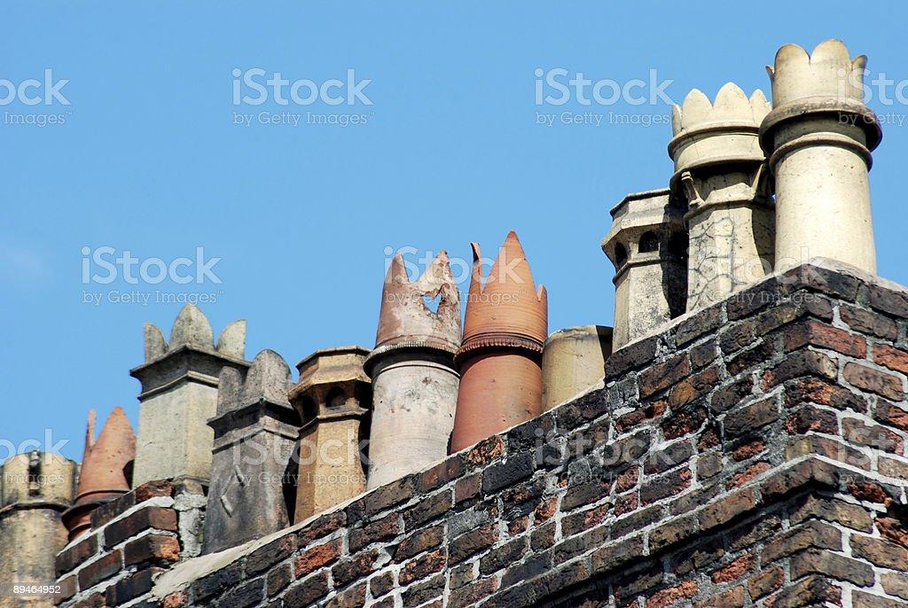 British chimney royalty-free stock photo