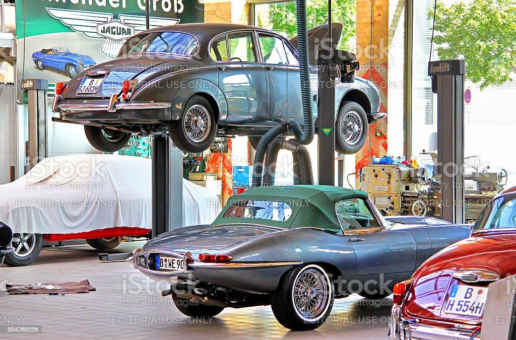 British classic cars Jaguar stock photo