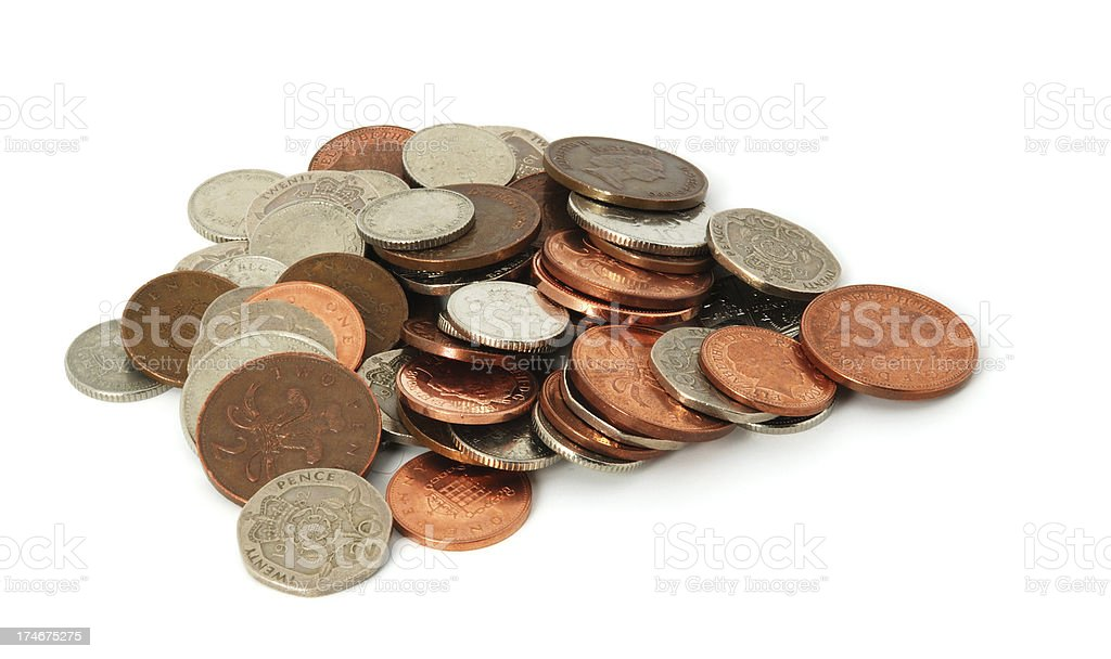 British coins royalty-free stock photo