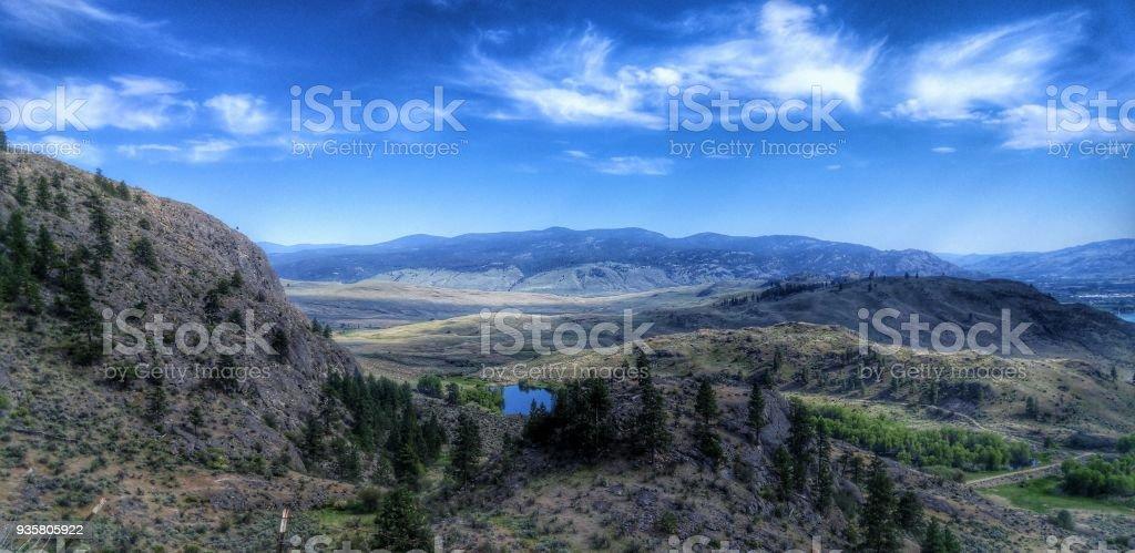 British Columbia Desert stock photo