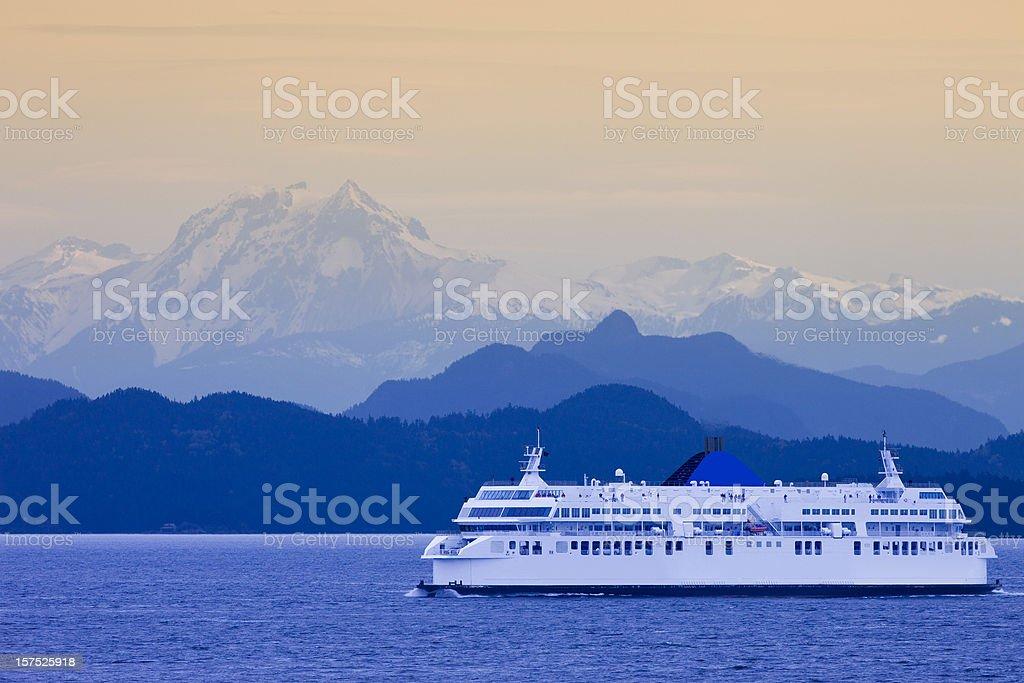 British Columbia Ferry royalty-free stock photo