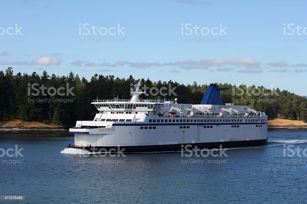 British Columbia Ferry Victoria to Vancouver stock photo