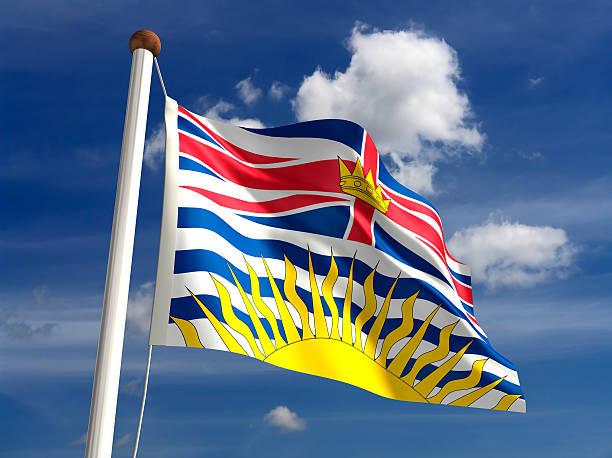 British Columbia flag Canada stock photo