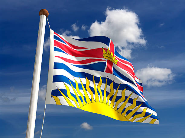 British Columbia flag Canada stock photo
