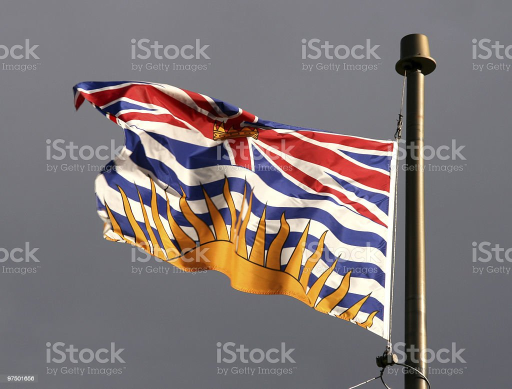 British Columbia flag royalty-free stock photo