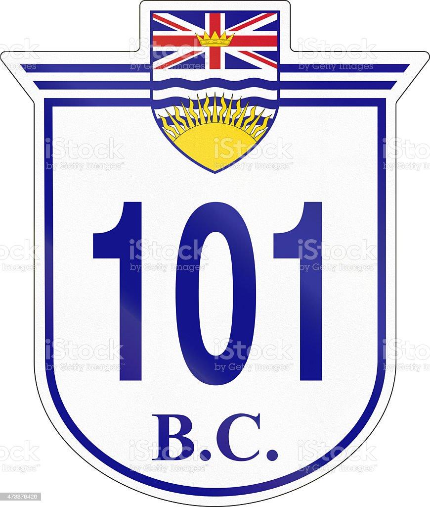 British Columbia Highway 101 stock photo