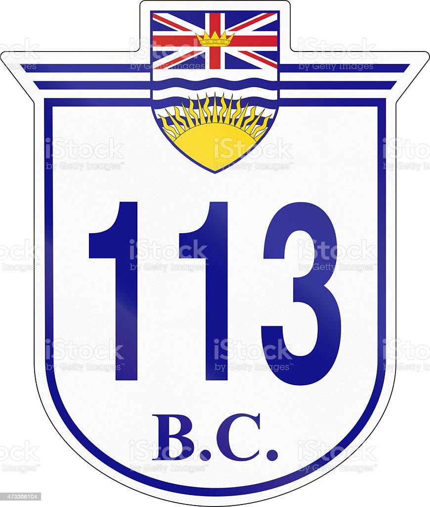 British Columbia Highway 113 stock photo