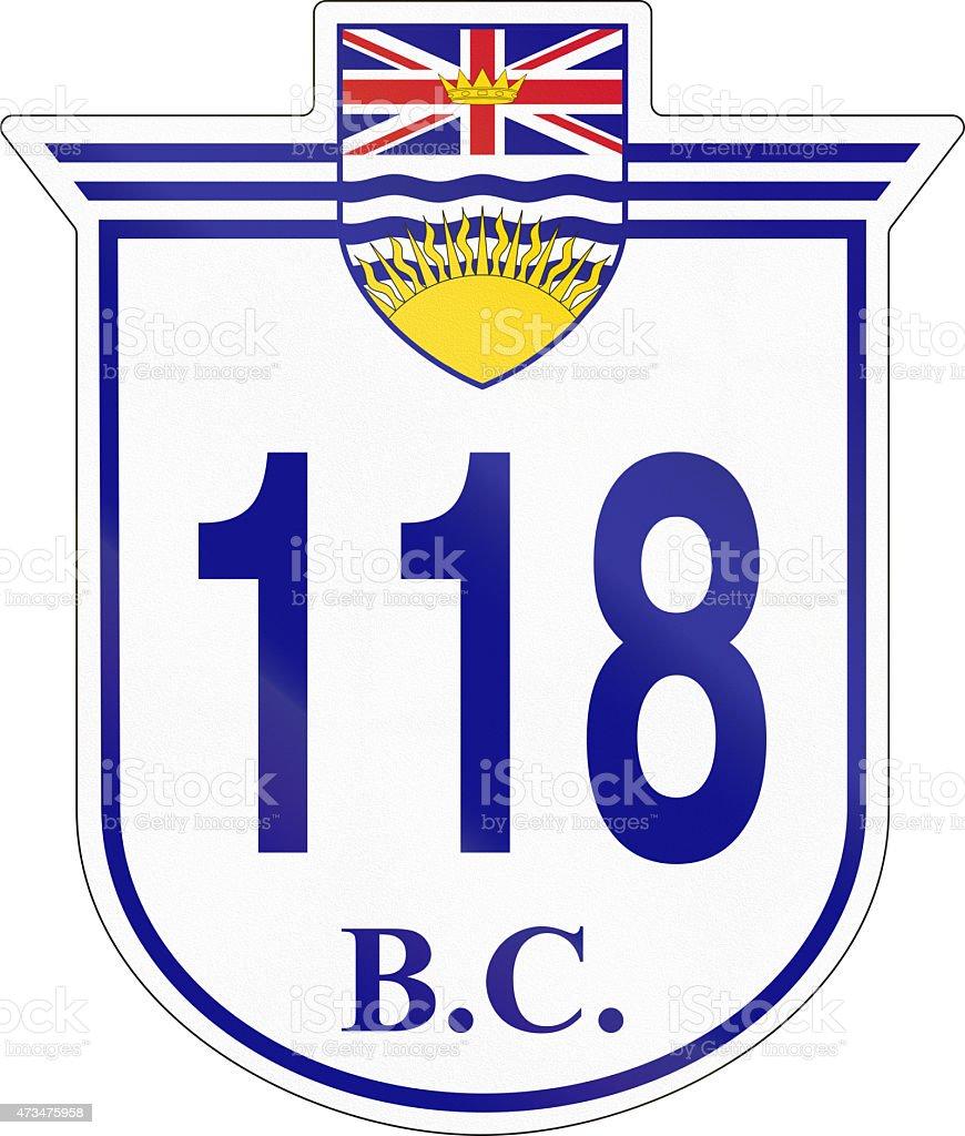 British Columbia Highway 118 stock photo