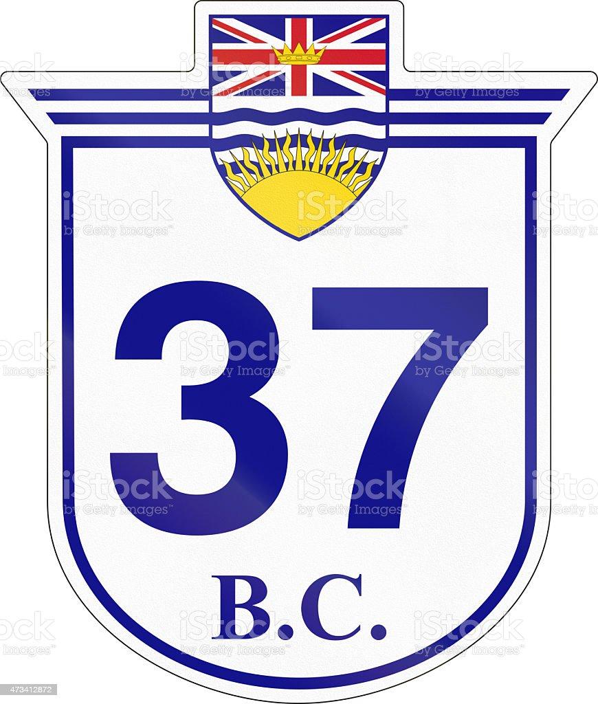 British Columbia Highway 37 stock photo