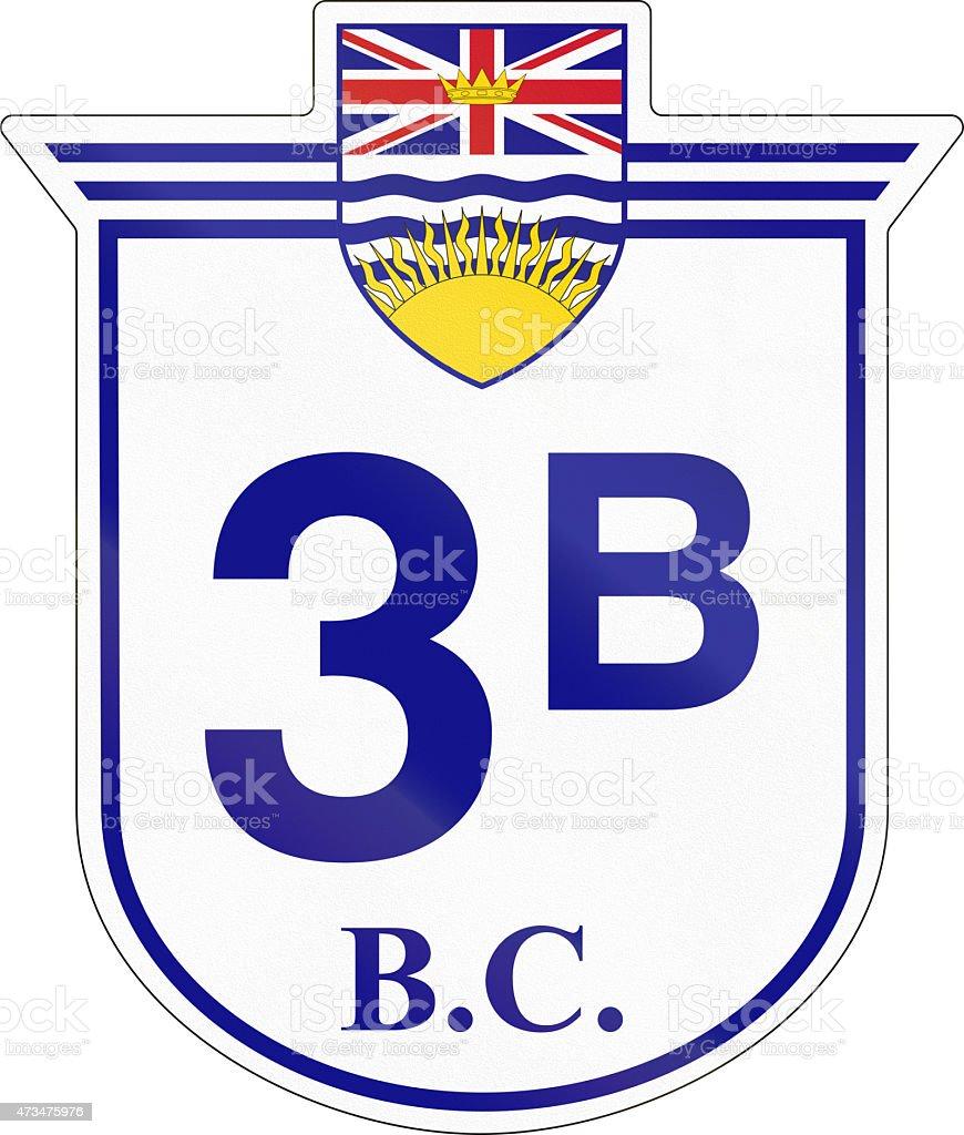 British Columbia Highway 3B stock photo