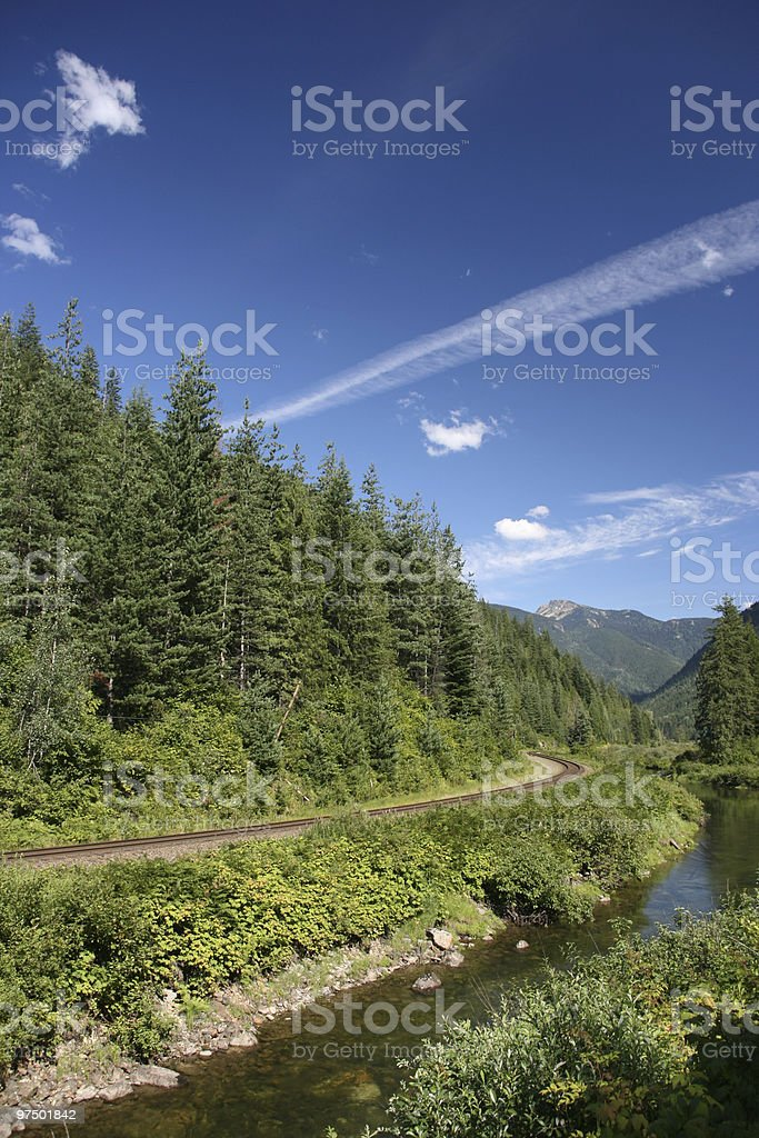 British Columbia landscape royalty-free stock photo