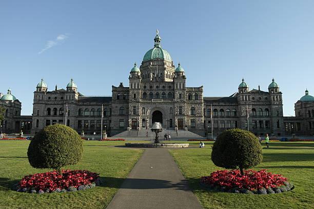 British Columbia Parliament Buildings stock photo