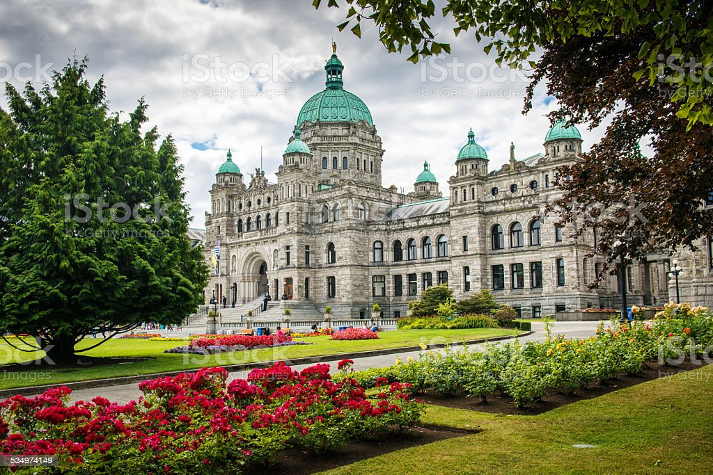 British Columbia Parliament Buildings Victoria Canada stock photo