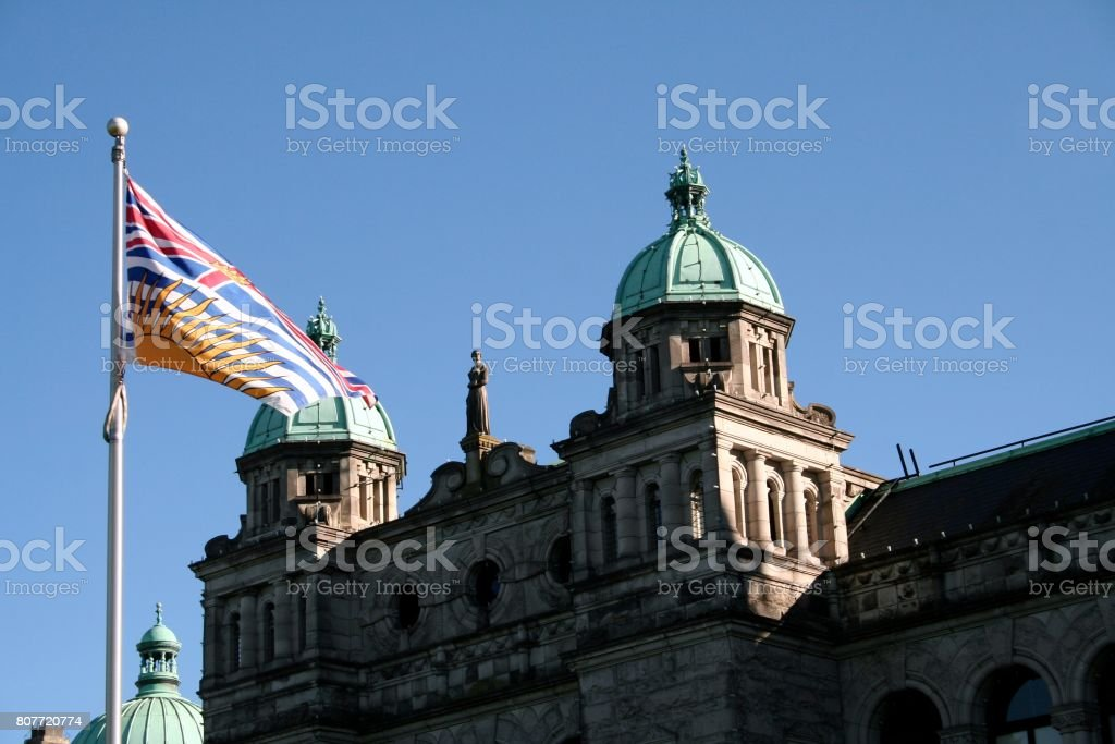 British Columbia parliament in Victoria stock photo