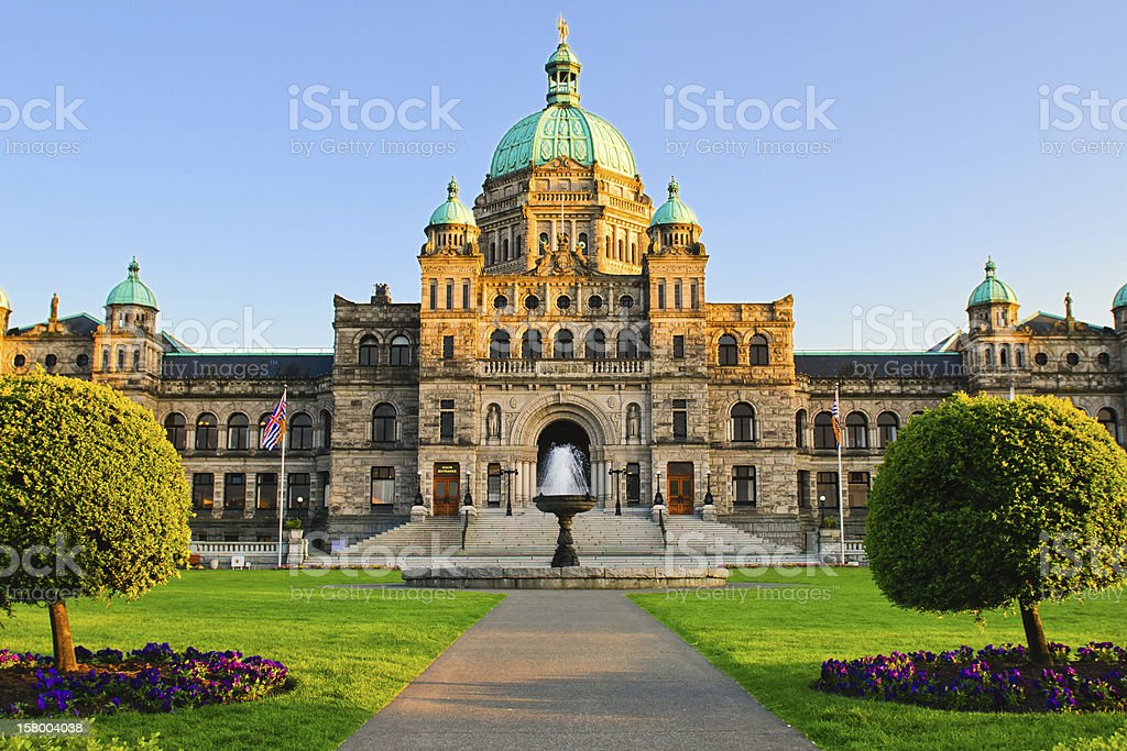British Columbia Parliament stock photo