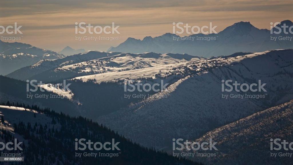 British Columbian Backcountry stock photo