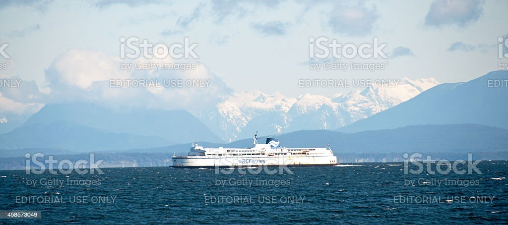 British Columia Ferry on the Inside Passage stock photo
