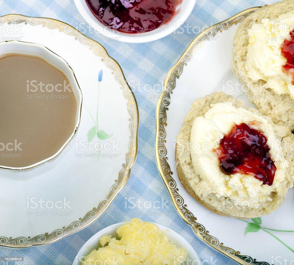 British Cream Tea stock photo