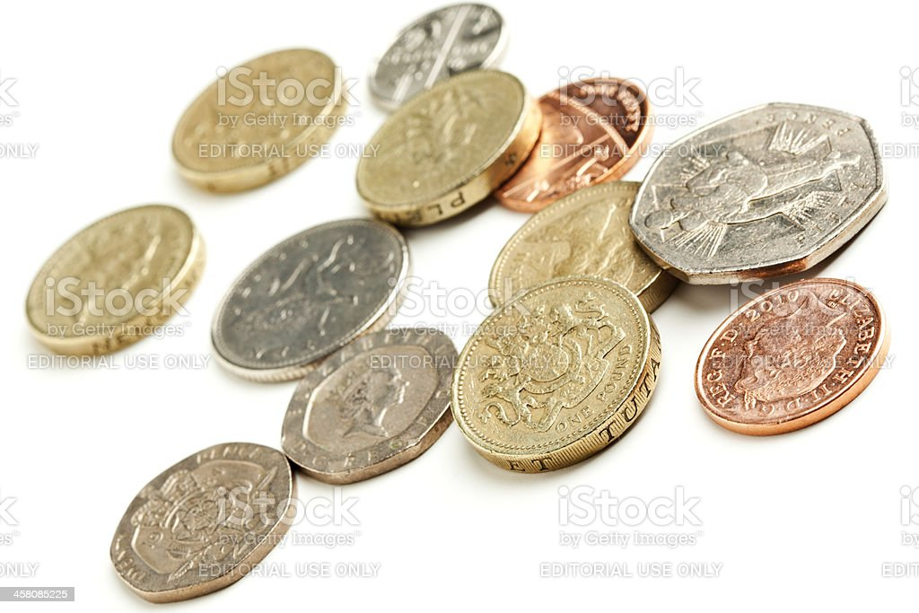 British currency coins royalty-free stock photo