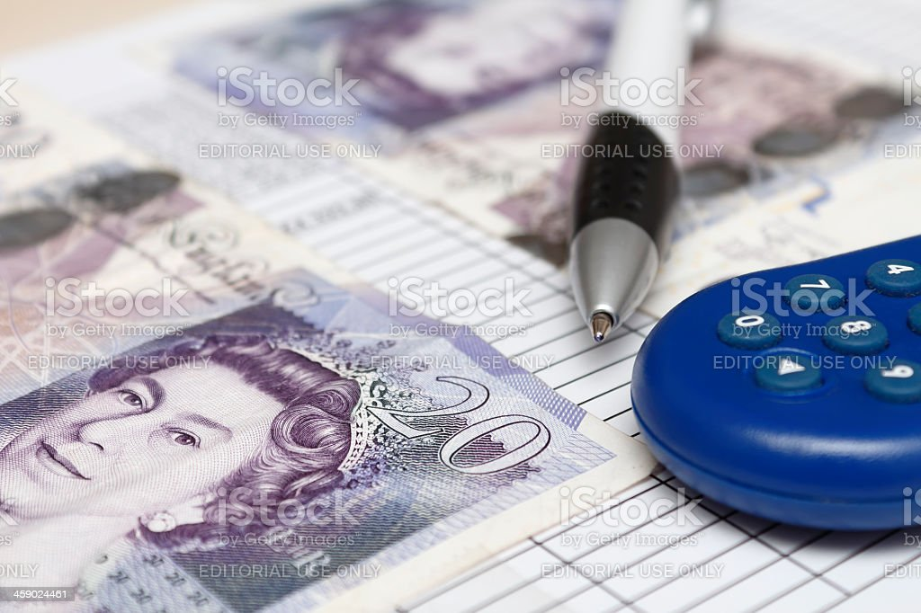 British Currency GBP royalty-free stock photo