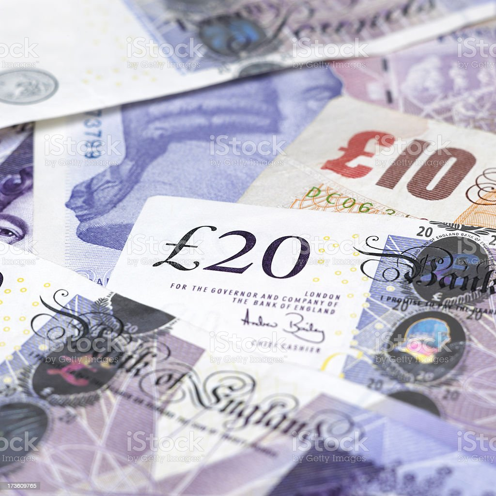 British currency notes royalty-free stock photo