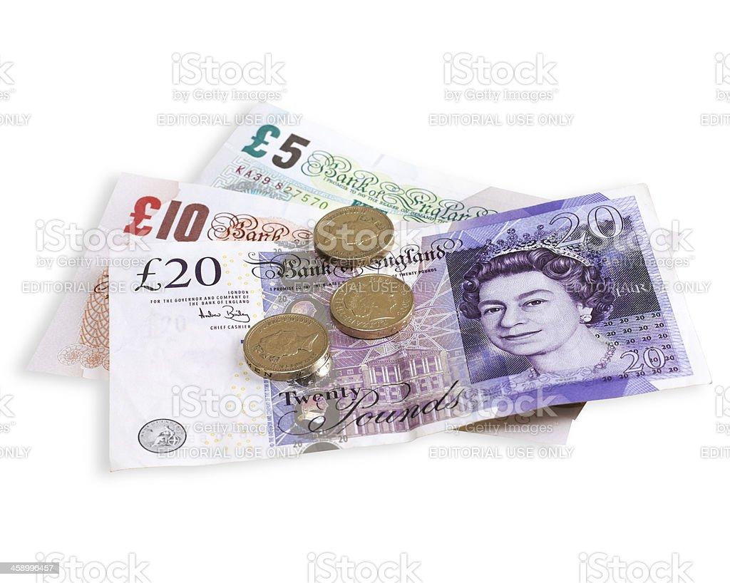 Britische Währung Lizenzfreies stock-foto