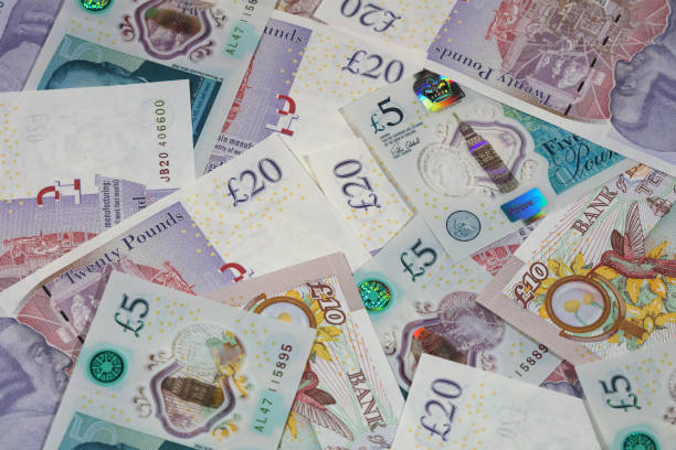 British Currency British Currency  ten pound note stock pictures, royalty-free photos & images