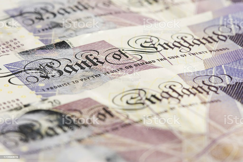 British Currency Series royalty-free stock photo