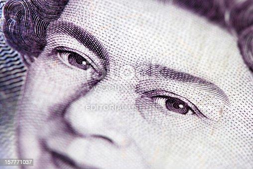 Liverpool, England - September 19, 2009 - British currency with Queen Elizabeth II.